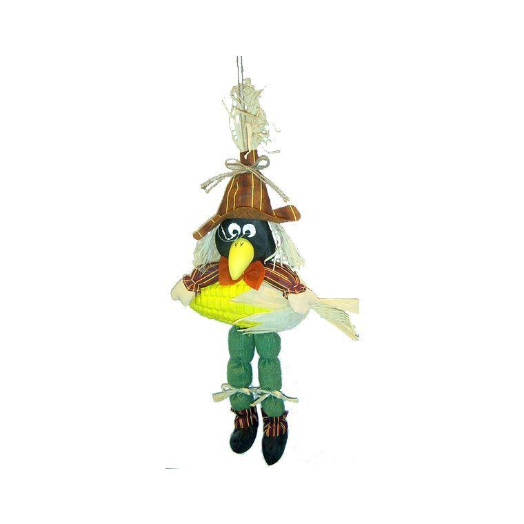 Epouvantail de jardin décor corbeau 629636