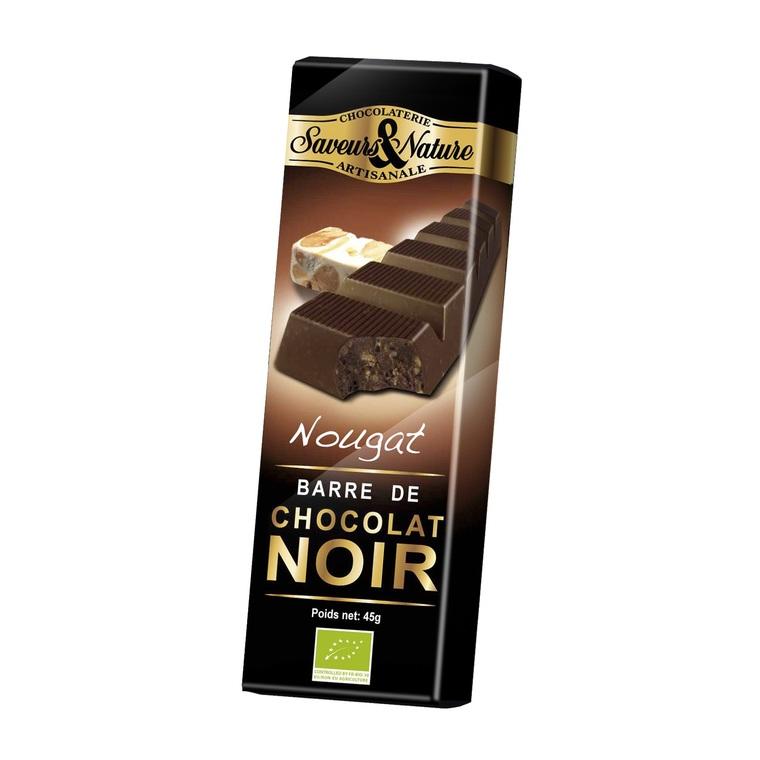 Barre de chocolat noir au nougat 45 g 631126