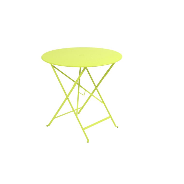 Table de jardin ronde pliante Bistro FERMOB verveine 77 x h 74 cm 634251