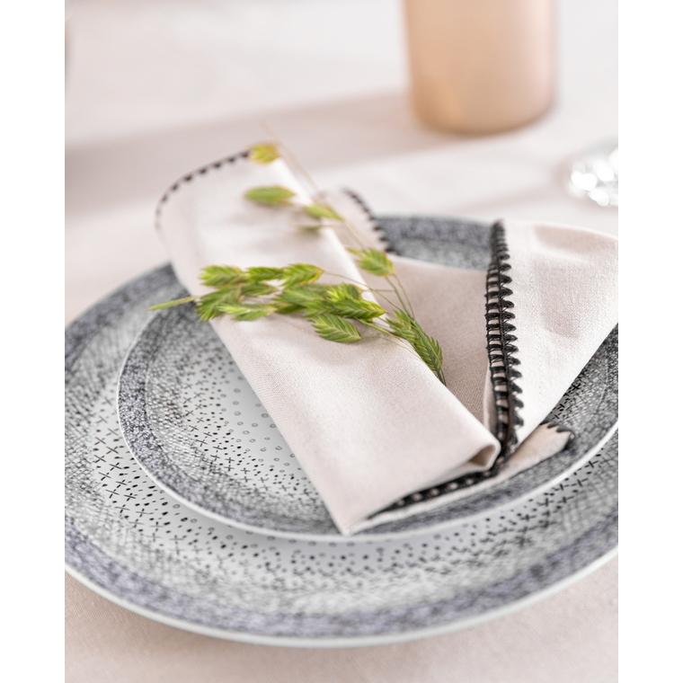 Assiette plate Stella grise en grès Ø 27 cm 634573