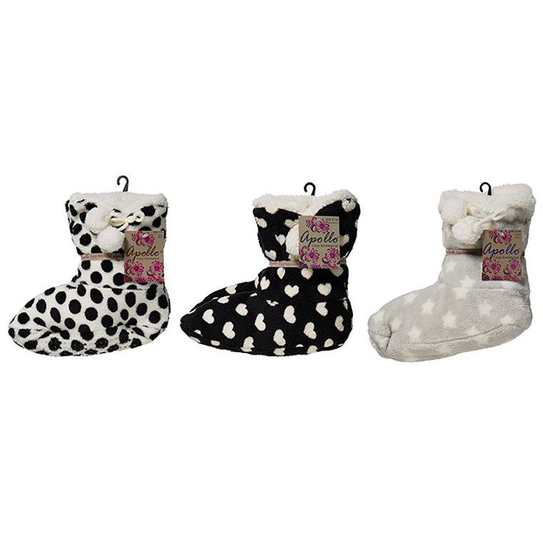 Chaussons bottes fourrure femme 634961