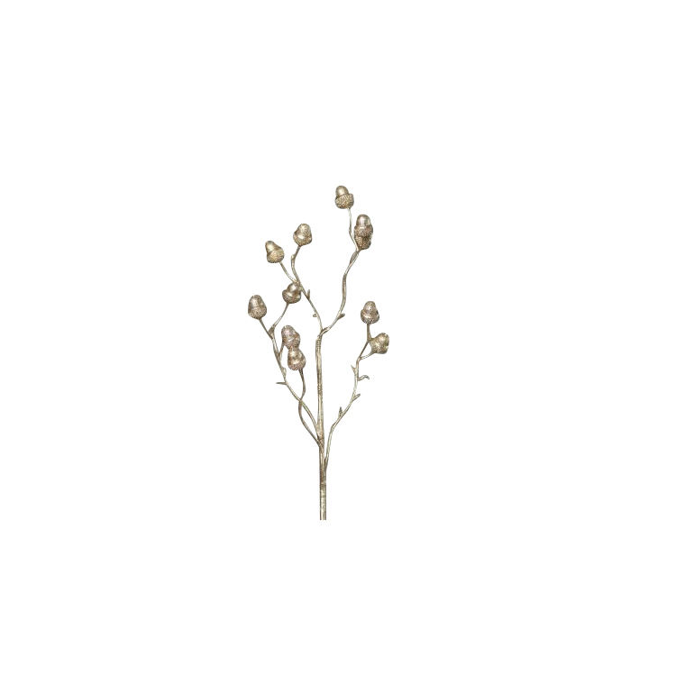 Branche scintillante avec glands couleur platine H 60 cm 635089