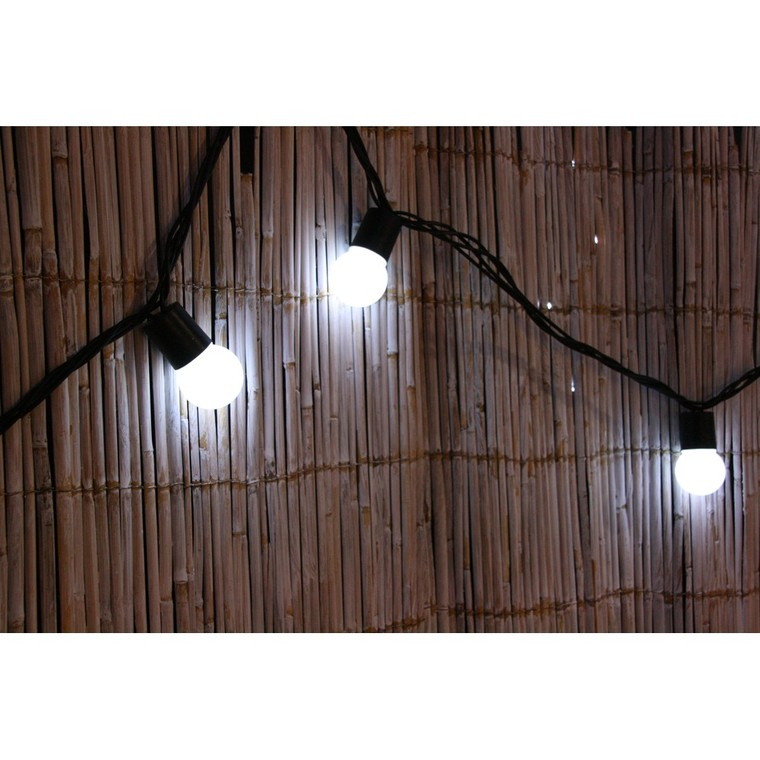Guirlande lumineuse 12 ampoules LED blanches 10m 63572