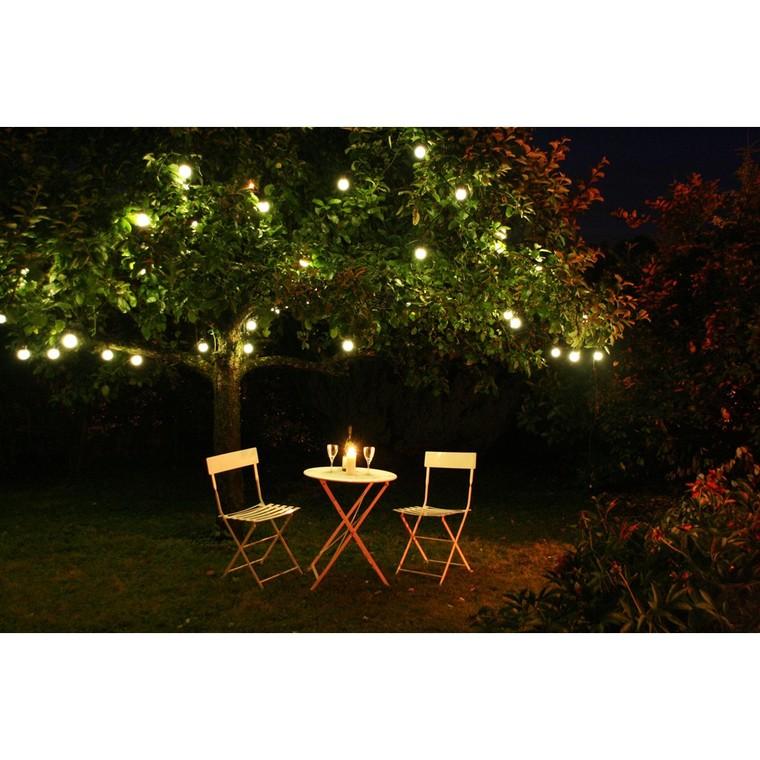Guirlande lumineuse 12 ampoules LED blanc chaud 10 m 63573