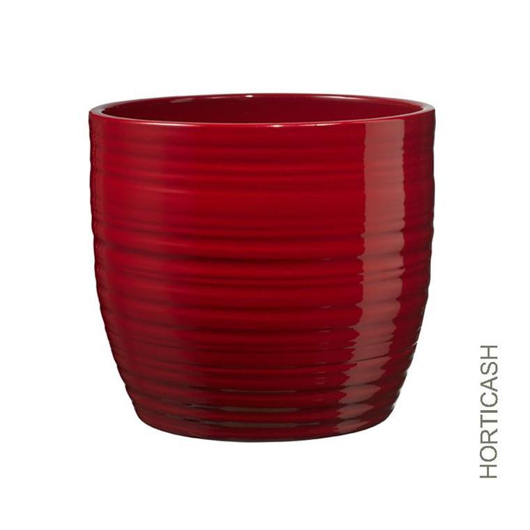 Cache-pot cover bordeaux Ø14x13 cm 635814