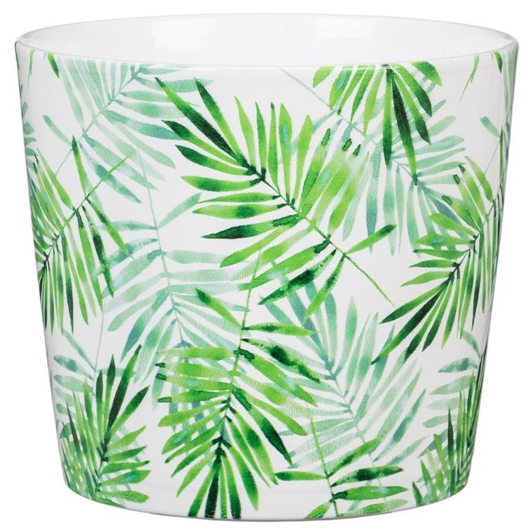 Cache-pot 870 Palm Garden Ø 21 x H 18,2 cm Céramique émaillée 635823
