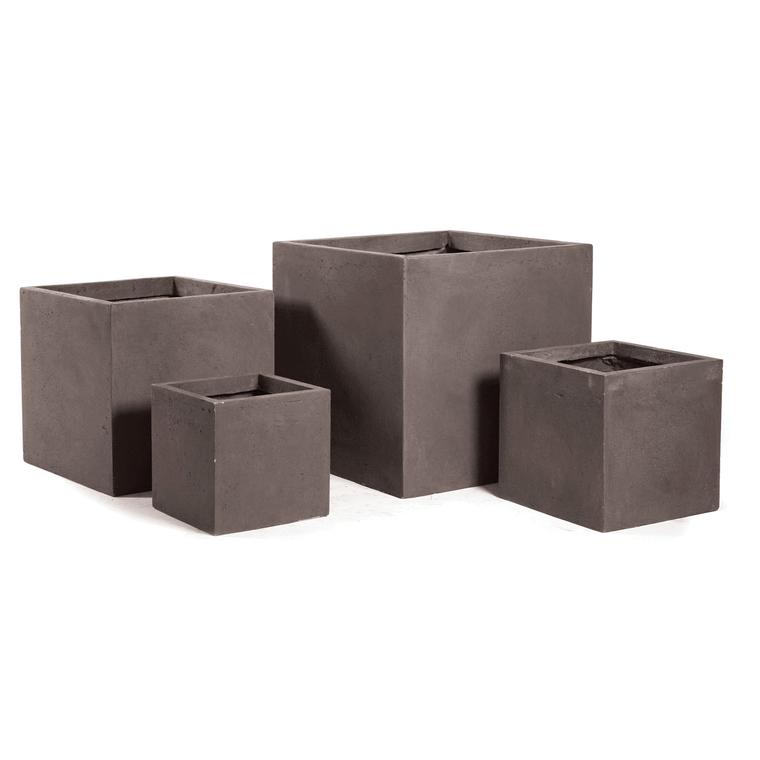 Pot carré GENEVE 44x44xH.38 Taupe 63676