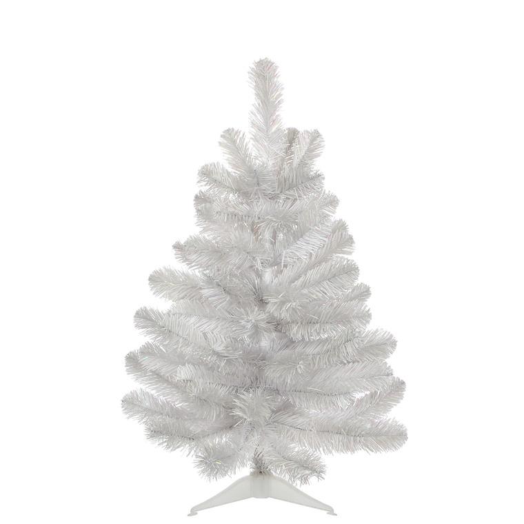 Sapin de Noël artificiel blanc irisé 60 cm 637443