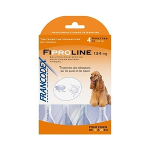 Pipettes antiparasitaires chien Fipromedic 10-20kg x4