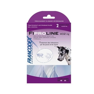 Pipettes antiparasitaires chien Fipromedic 40-60kg x2