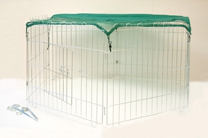 Enclos exterieur hexagonal pour volailles
