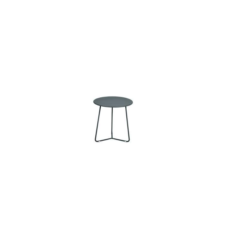 Table basse cocotte coloris gris orage de 34 x 36 xcm 641404