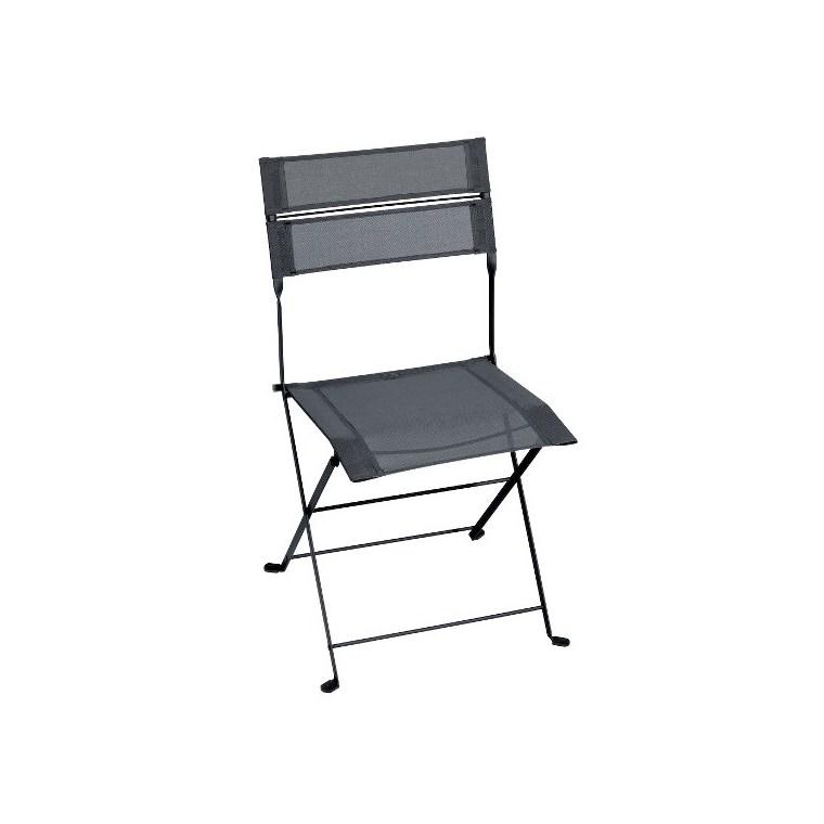 Chaise Latitude monochrome gris carbone 50 x 49 x 87 cm 641415
