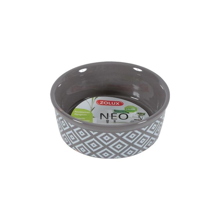Ecuelle Néo 150 ml en grès gris motifs blancs Ø 10 x H 3,8 cm 651969