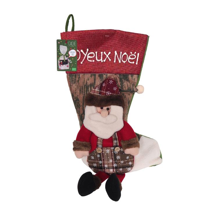 Chaussette de Noël à suspendre avec confiseries 380g 652089