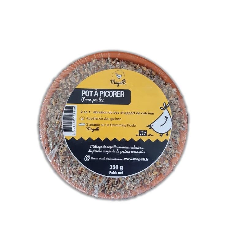 Pot à picorer pour volaille aux minéraux et aux insectes de 500 g 652323