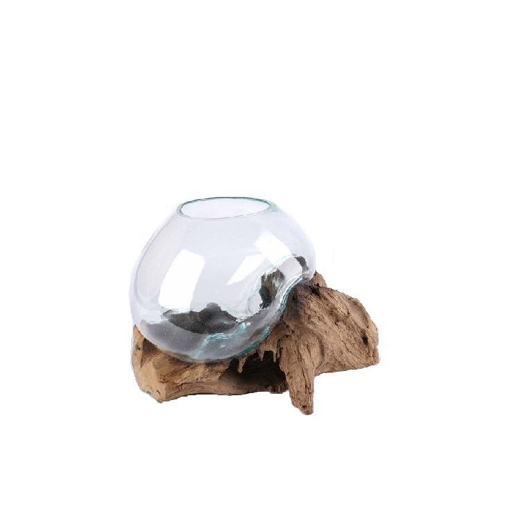 Vase amazonia transparent 25 x 25 x 25 cm 652376