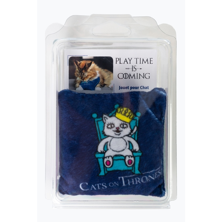 Jouet à la valériane Cats on thrones bleu 10x10 cm 654027
