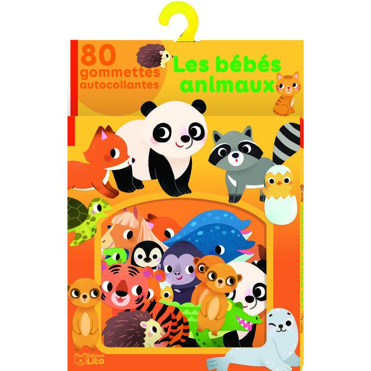 Ma boîte à gommettesLes bébés animauxx 80 gommettes autocollantes 655056