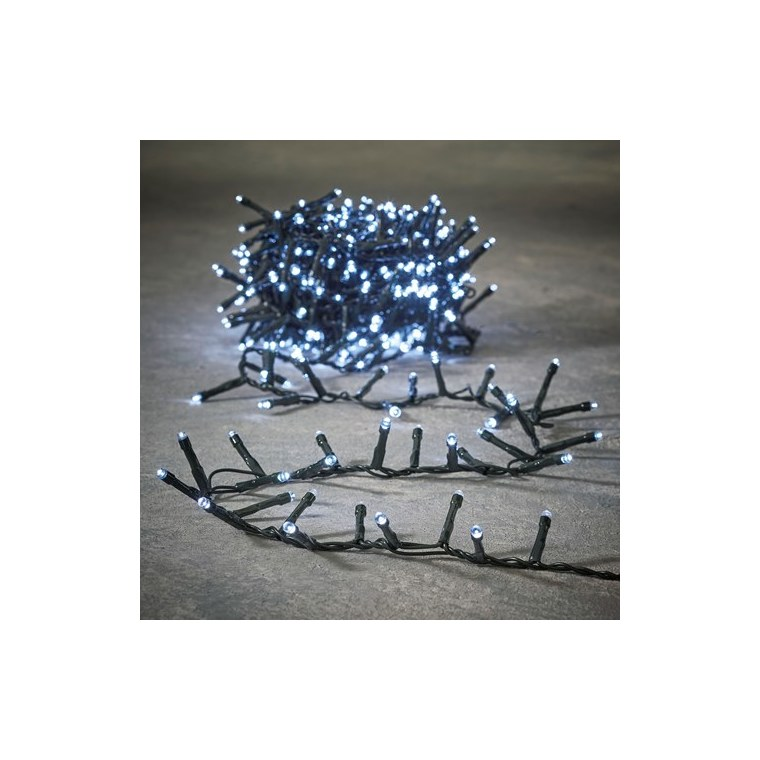 Guirlande lumineuse Snake light 370 LED blanc froid 740 cm 655929