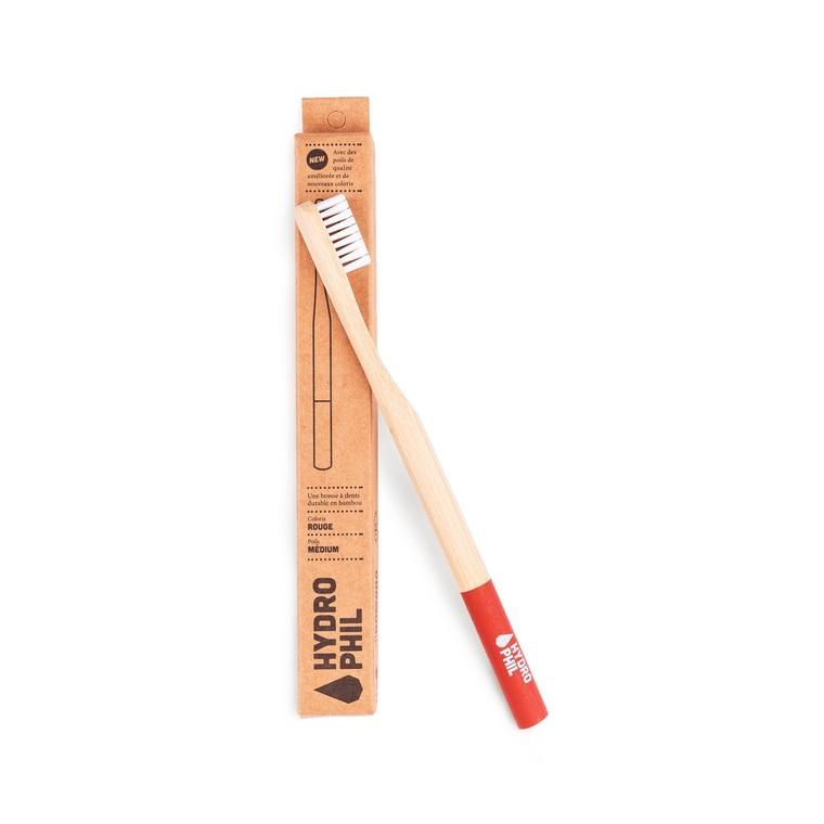 Brosse à dents bambou Médium rouge 656019