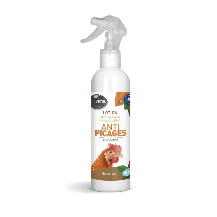 Lotion anti picage pour volailles en spray de 240 ml 656027