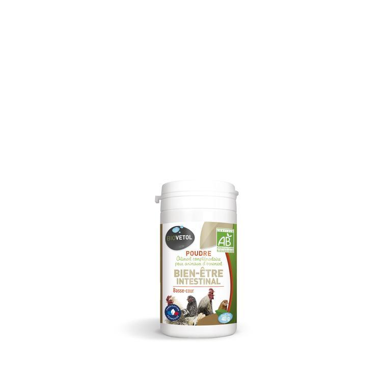 Poudre bien-être intestinal pour volailles bio de 40 g 656033