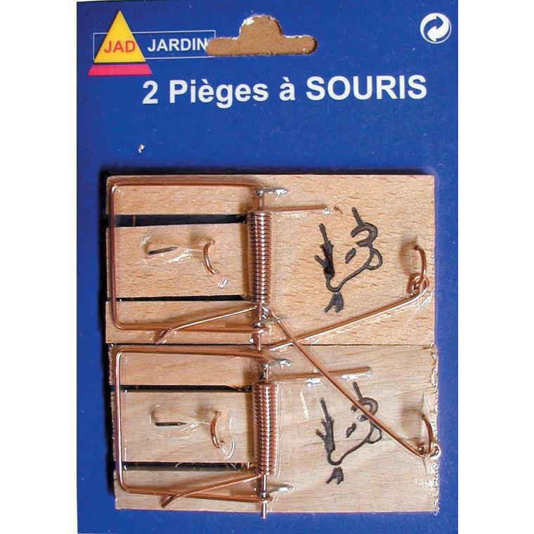 Pièges à souris avec socle en bois. Le lot de 2 657604