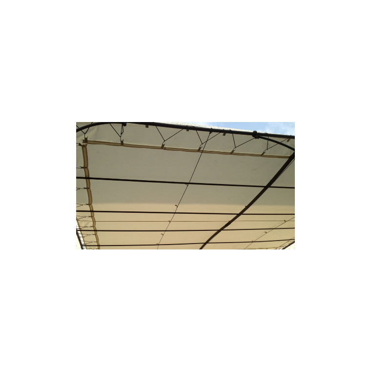 Toile d'ombrage universelle pour tonnelle couleur écru - 3x3m 659041