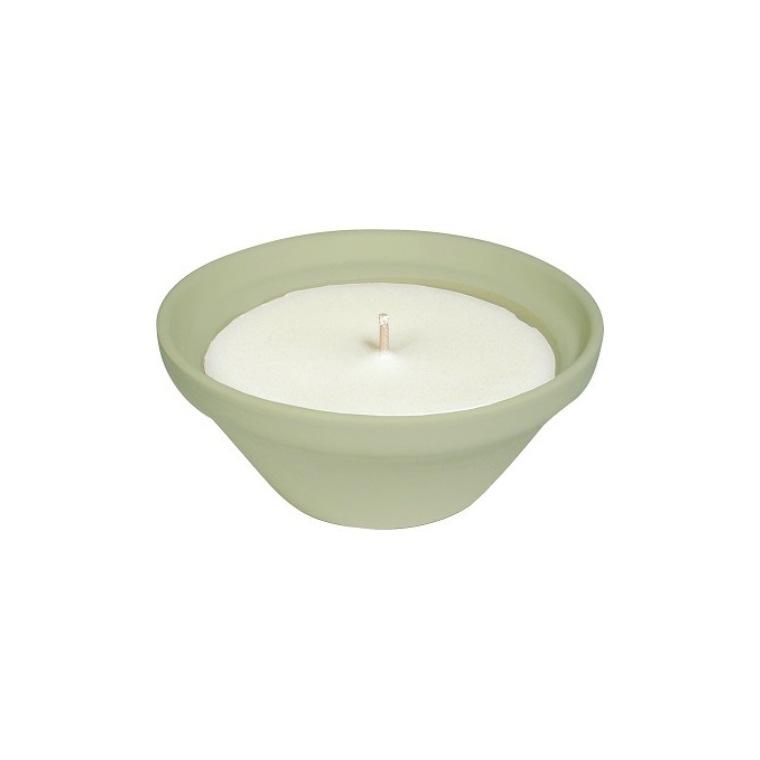Bougie à la citronnelle dans bol terre cuite vert PANTONE 14-011 Amazon 55X120 659225