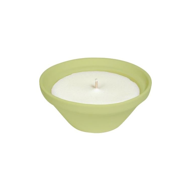 Bougie à la citronnelle dans bol terre cuite vert PANTONE 13-053 Amazon 50X120 659226