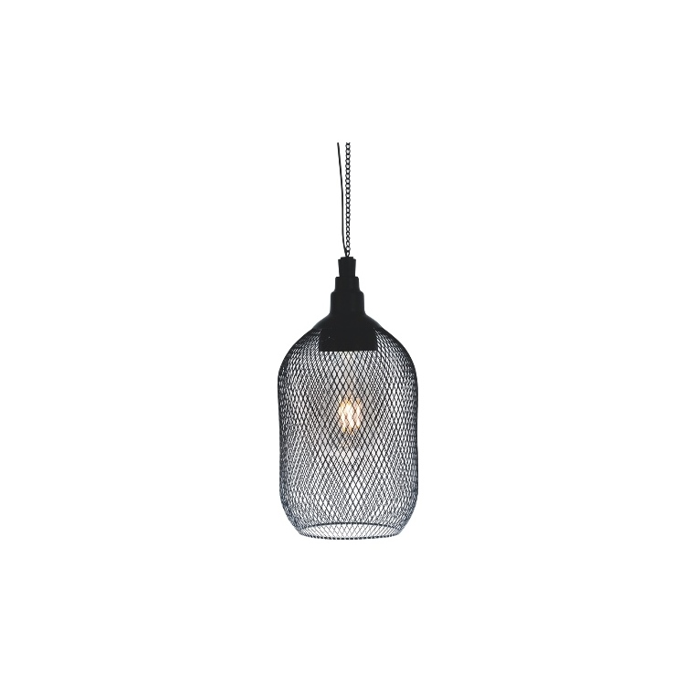Suspension solaire Samba métal noir à LED blanc chaud Ø 15 x L 30 cm 659340