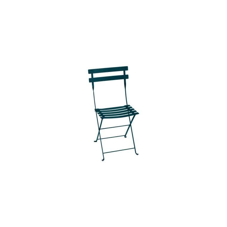 Chaise pliante Bistro bleu acapulco L38xp40xh82 659348