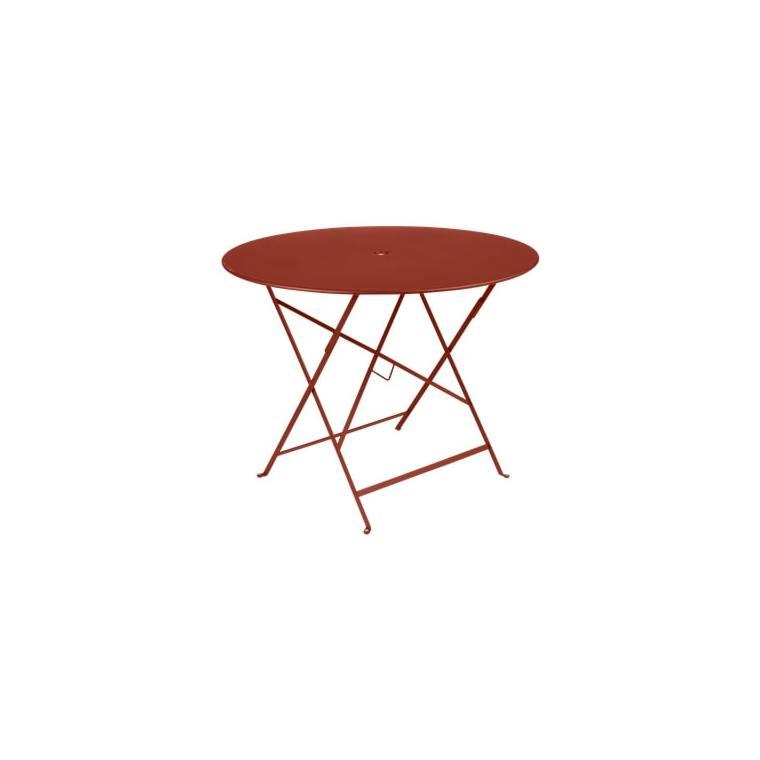 Table Pliante Bistro FERMOB ocre rouge Ø96xh74 659352