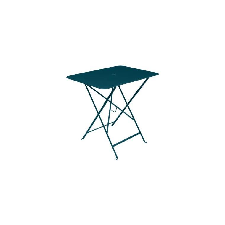 Table pliante Bistro FERMOB bleu acapulco L77xl57xh74 659365