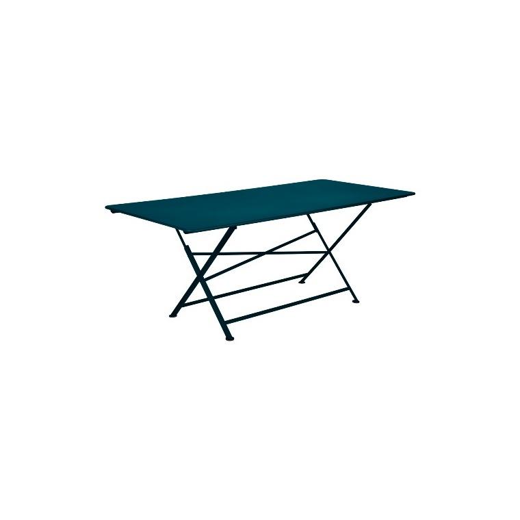 Table pliante Cargo FERMOB bleu acapulco L190xl90xh74 659373