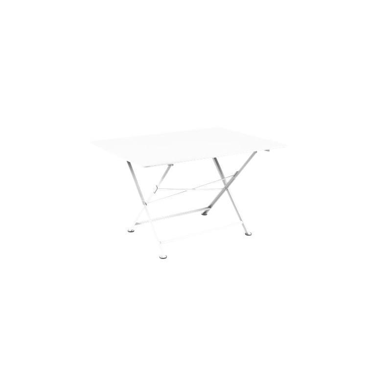 Table pliante Cargo FERMOB blanc coton L128xl90xh74 659374