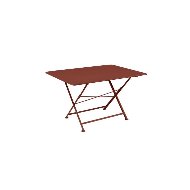 Table pliante Cargo FERMOB rouge ocre L128xl90xh74 659377