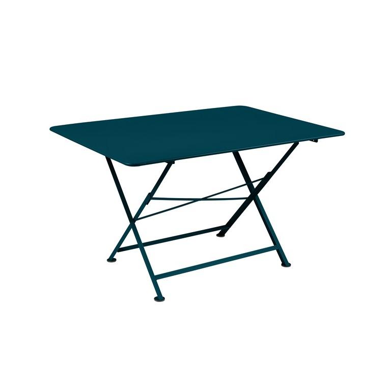 Table pliante Cargo FERMOB bleu acapulco L128xl90xh74 659378
