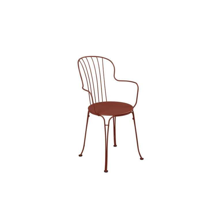 Fauteuil Opéra + FERMOB ocre rouge 659415