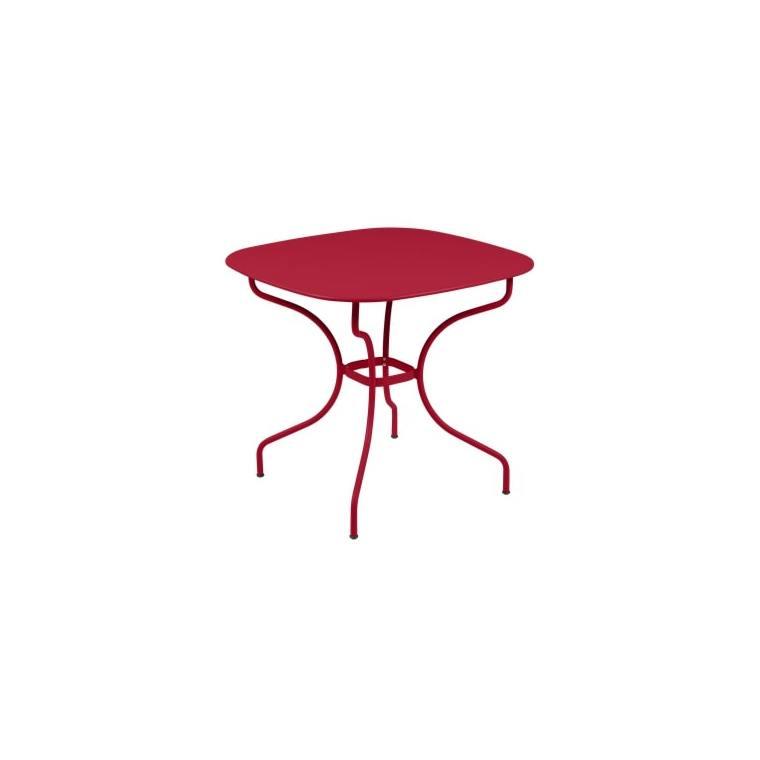 Table Opéra + FERMOB piment L82xl82xh74 659435