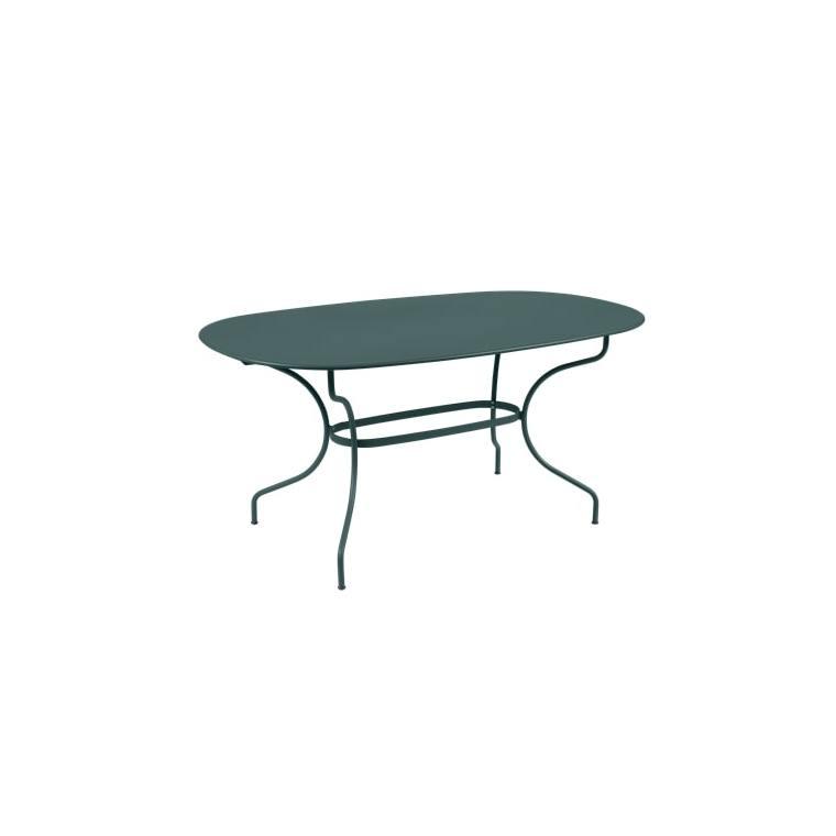 Table Opéra + FERMOB gris orage L160xl90xh74 659449