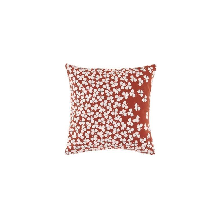 Coussin trèfle Fermob coloris ocre rouge en acrylique 44 x 44 cm 659474