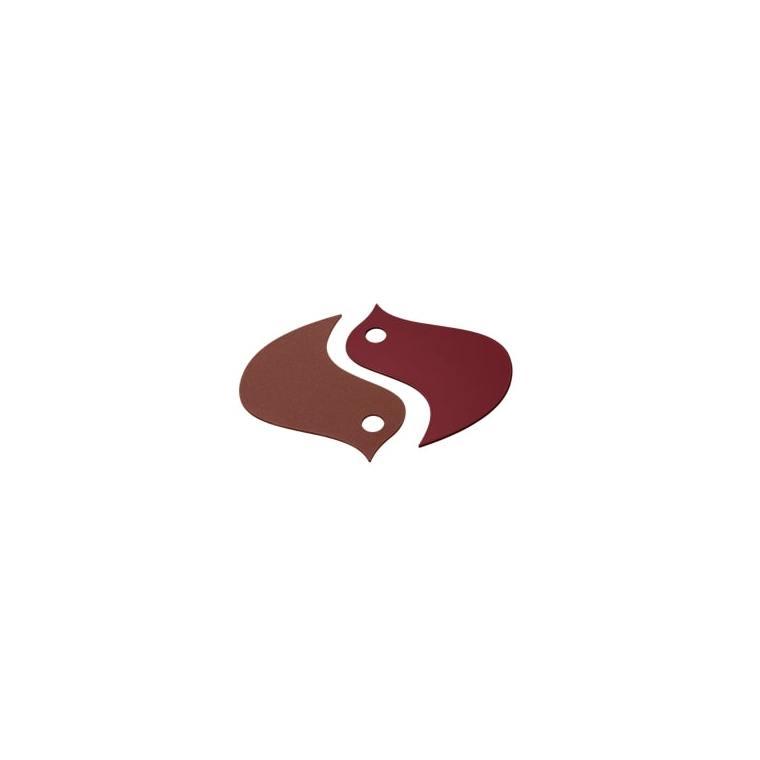 Dessous de plat Oiseaux Fermob en acier coloris Ocre/Piment 18,6 x 16,8 cm 659479