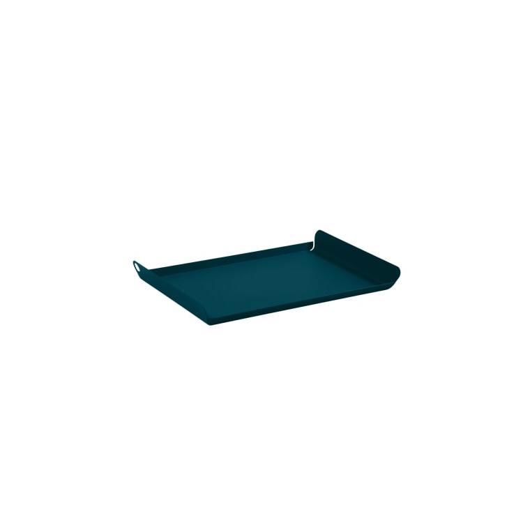 Plateau Alto Fermob en acier coloris bleu acapulco 36 x 23 cm 659487