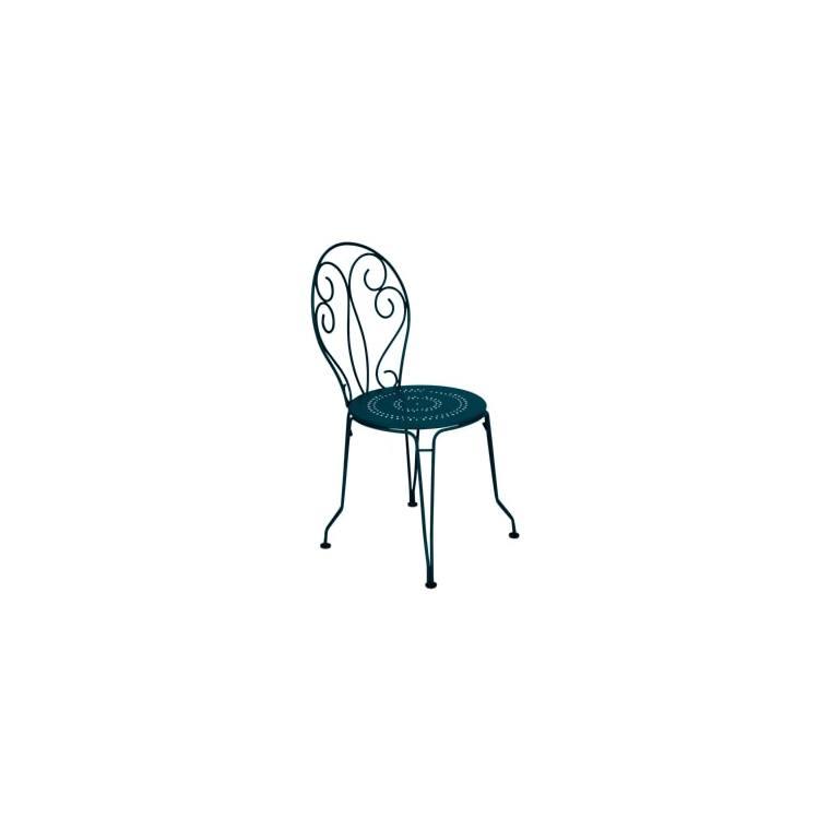 Chaise Montmartre FERMOB bleu acapulco L56xl48xh87 659498