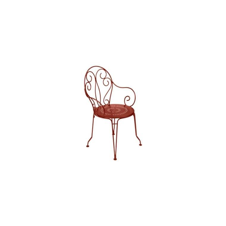 Fauteuil Montmartre FERMOB ocre rouge L56xl48xh87 659499