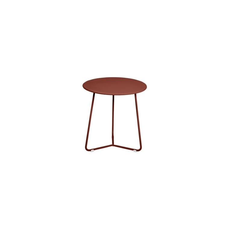 Table d'appoint cocotte FERMOB ocre rouge Ø34x36 659503