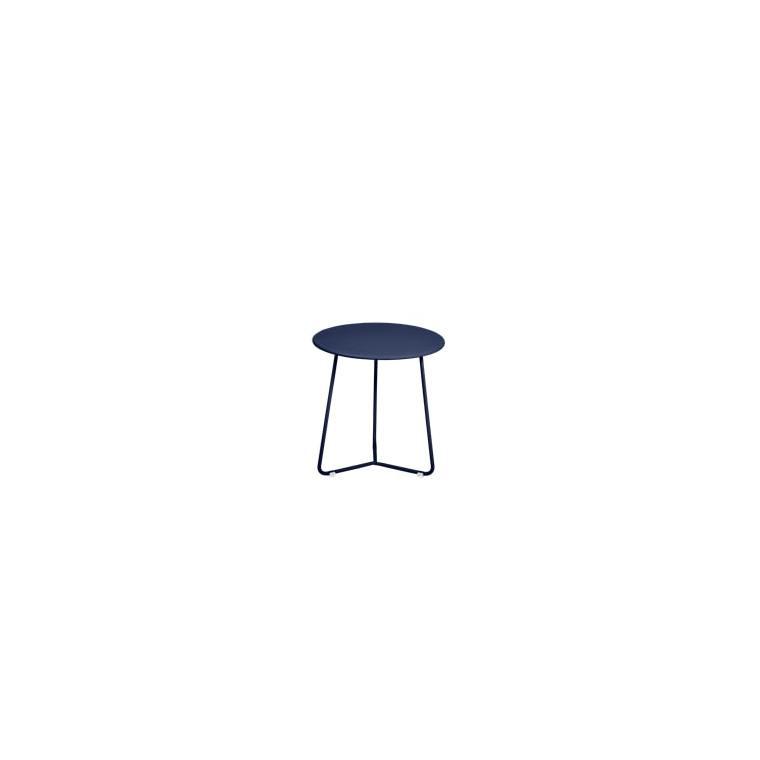 Table d'appoint cocotte FERMOB bleu abysse Ø34x36 659507