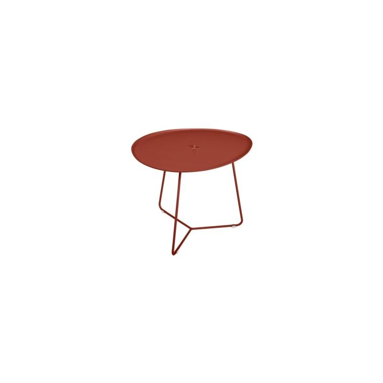 Table basse cocotte FERMOB ocre rouge  L44,5xl55xh43,5 659508